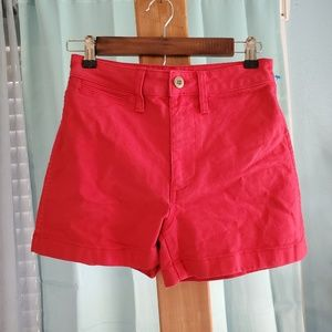 Madewell High Waisted Red Shorts